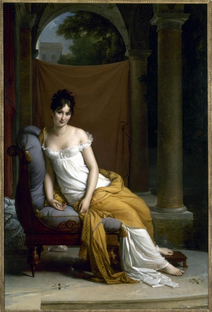 Françoise Gérard. Retrato de Madame Récamier. 1805. Museo Carnavalet. Paris.