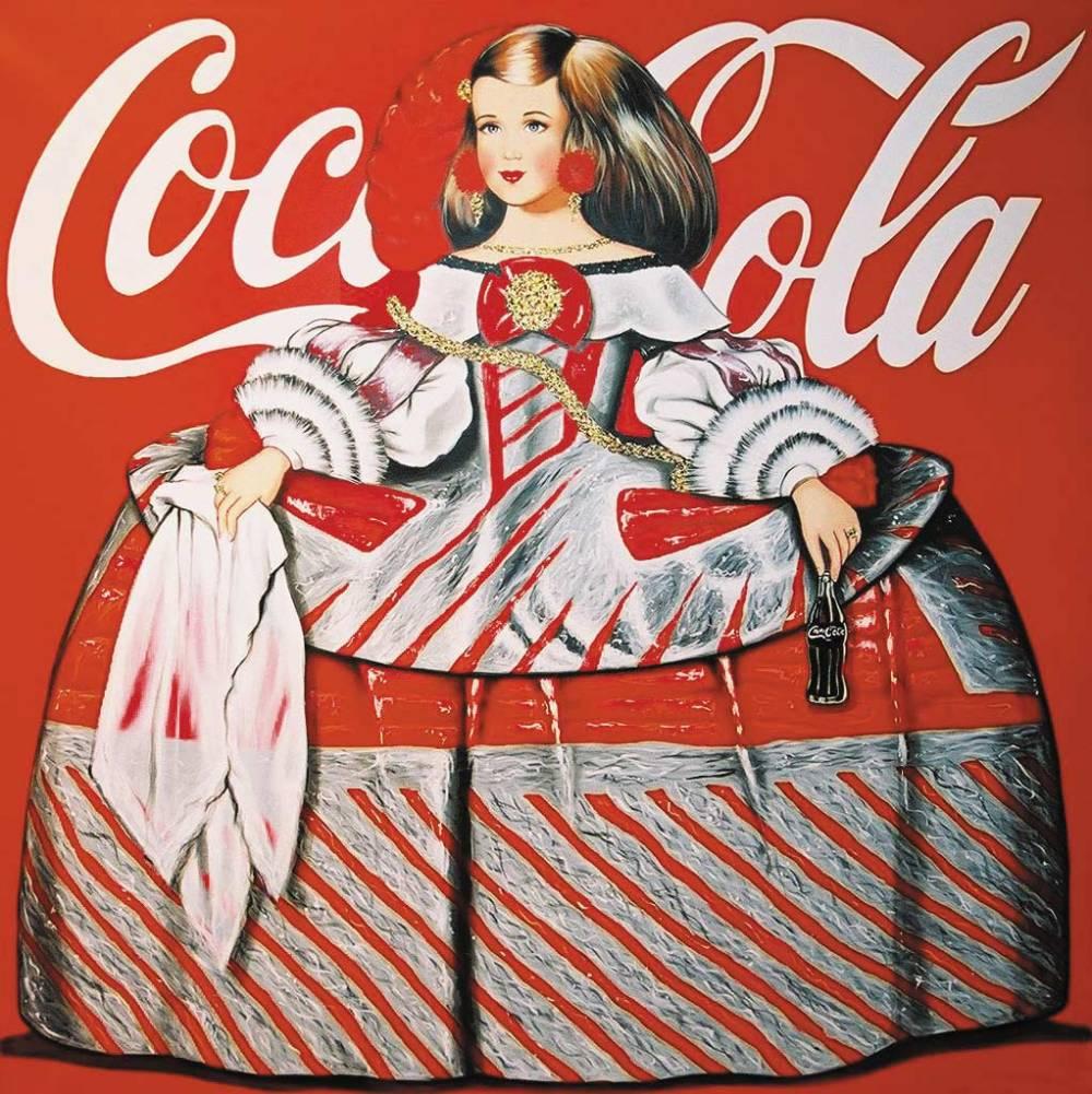 Antonio de Felipe. Menina como campaña de Coca Cola.