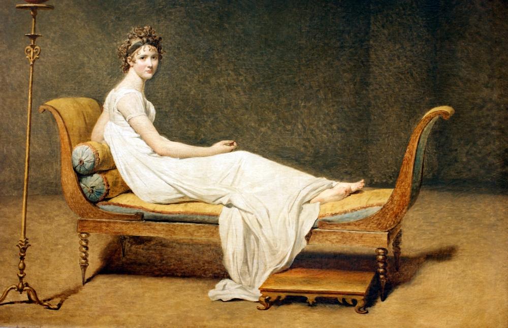Jacques-Louis David. Madame Récamier. 1800. Museo del Louvre. Paris.