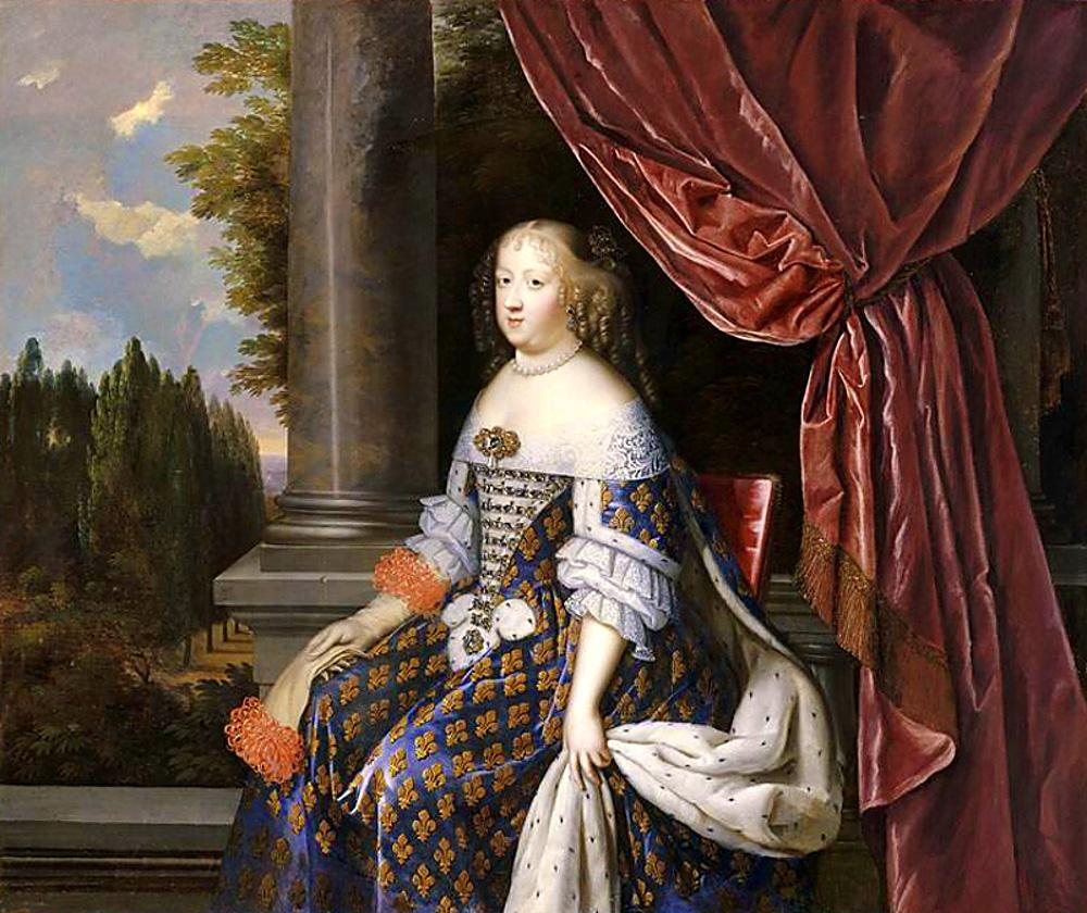 Jean Nocret. Maria Teresa de Austria. Detalle. Hacia 1660. Palacio de Versalles.