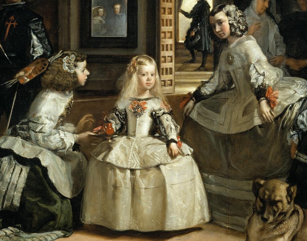 Las meninas o la familia de Felipe IV 1656. Detalle. Museo del Prado. Madrid.