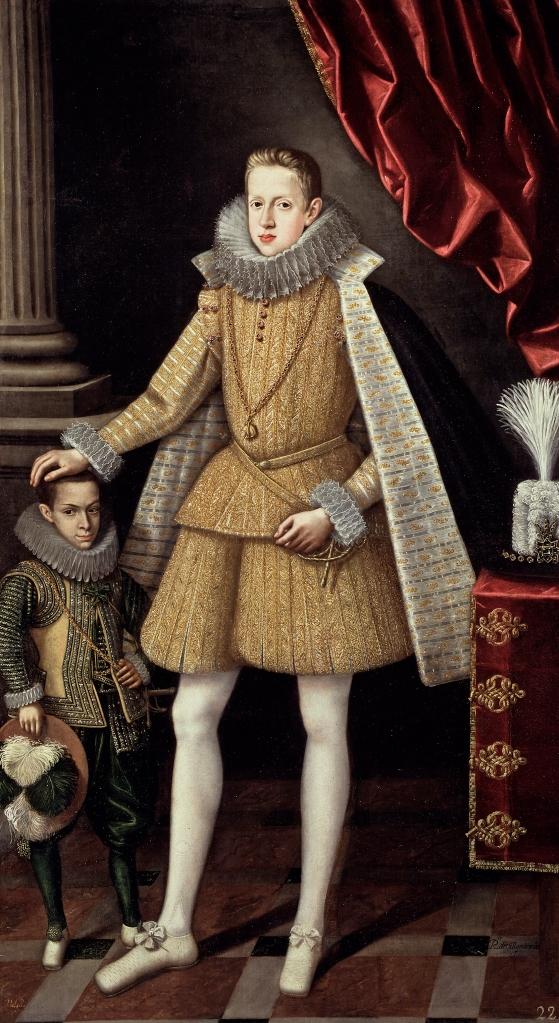 Rodrigo de Villadrando.El príncipe Felipe, futuro Felipe IV, y el enano Soplillo Hacia 1620. Museo del Prado. Madrid.