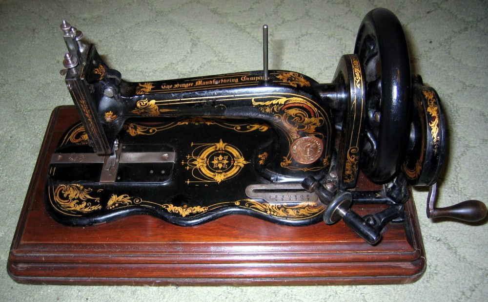 Máquina de coser Singer. 1878.