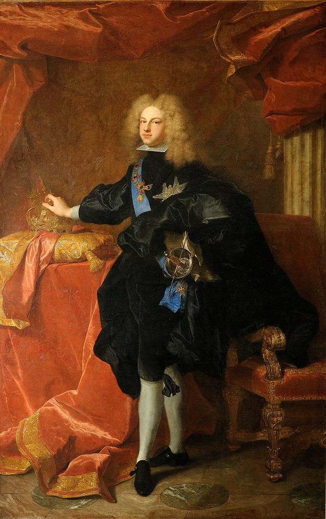 Hyacinthe Rigaud. Felipe V rey de España. 1701. Palacio de Versalles.