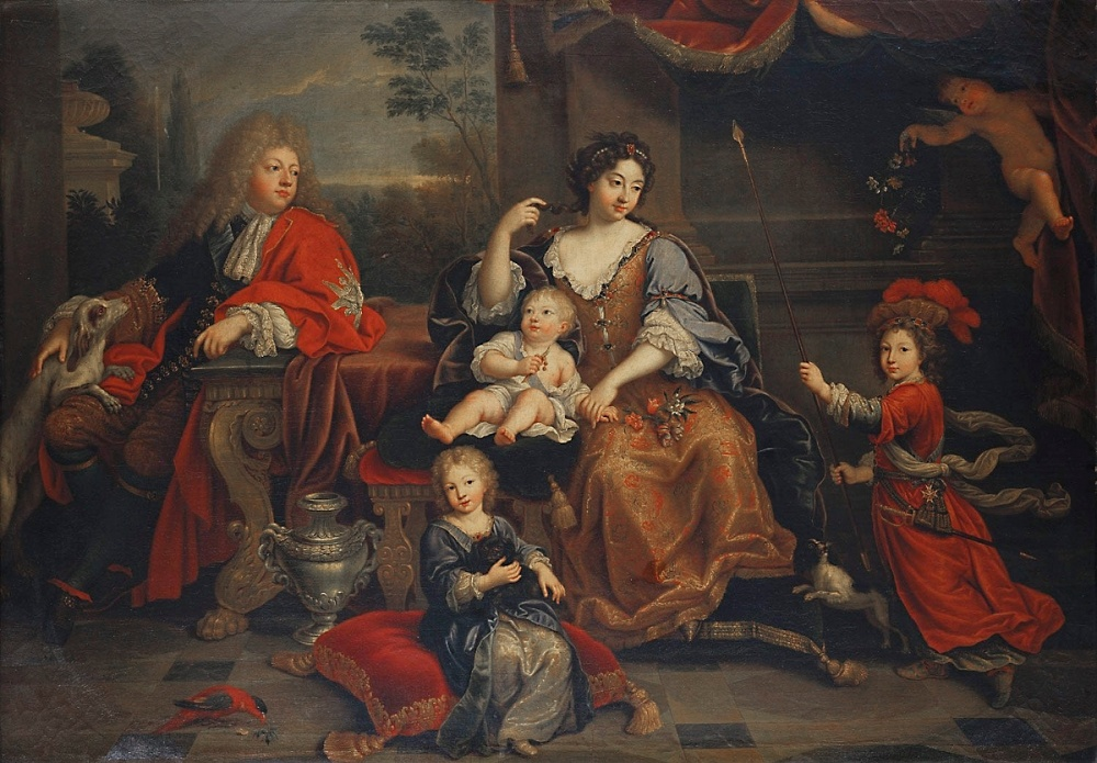 Pierre Mingard. Familia del Gran Delfín de Francia. 1687. Palacio de Versalles.