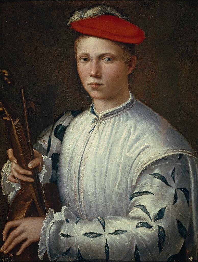 Anónimo. El tañedor de viola. Hacia 1540. Museo del Prado. Madrid.
