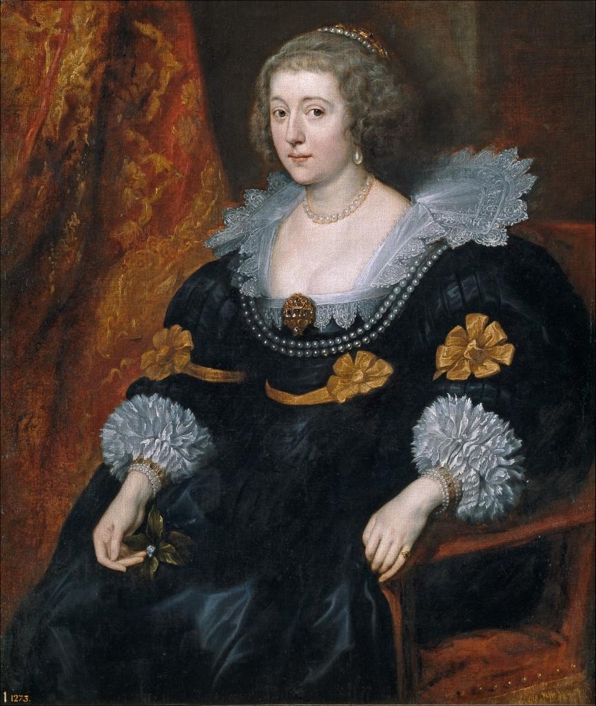Antonio van Dyck. Retrato de Amalia de Solms-Braunfels. Hacia 1631-1632. Museo del Prado. Colección de Isabel de Farnesio.