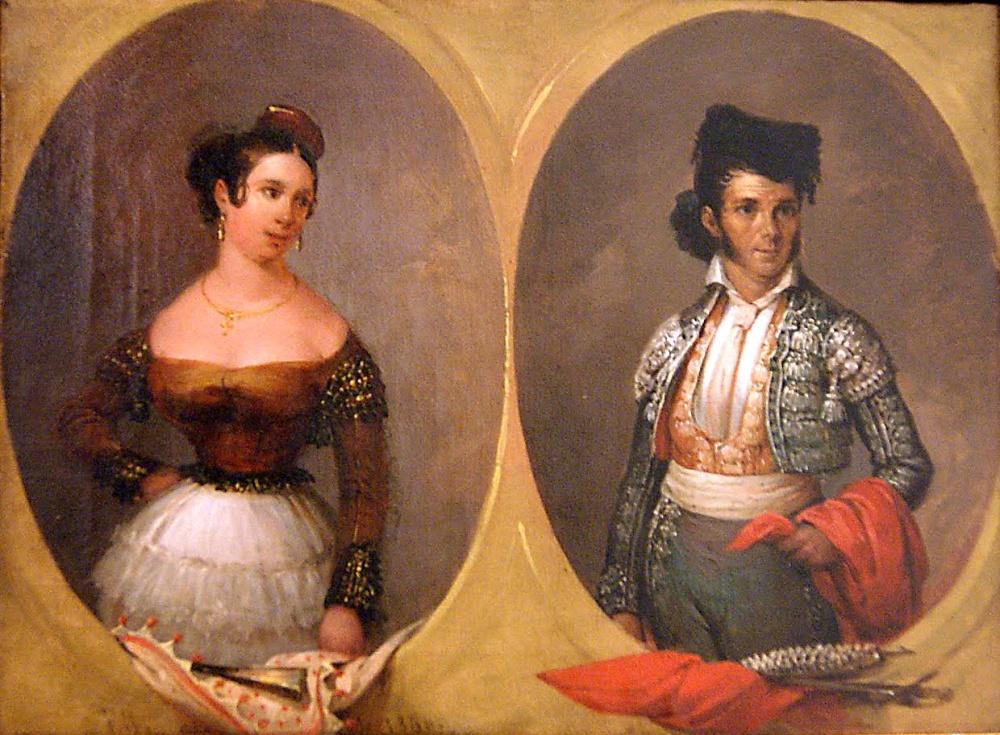 José Elbo. Retrato de Paquiro y su esposa. Colección Real Maestranza de Caballería. Sevilla.