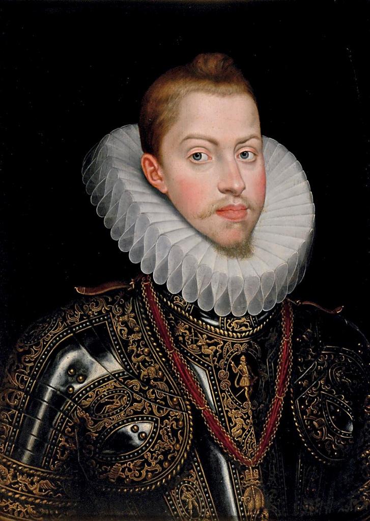 Juan Pantoja de la Cruz. Retrato de Felipe III. Patrimonio Nacional. Palacio Real. Madrid.