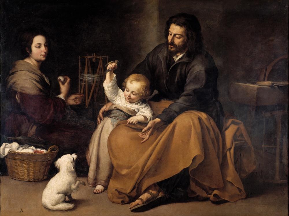 Bartolomé Esteban Murillo. La sagrada familia del pajarito. Hacia 1650. Museo del Prado. Madrid.