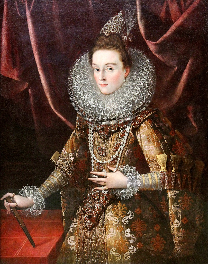 Juan Pantoja de la Cruz. La infanta Isabel Clara Eugenia. 1599. Alte Pinakothek. Munich.