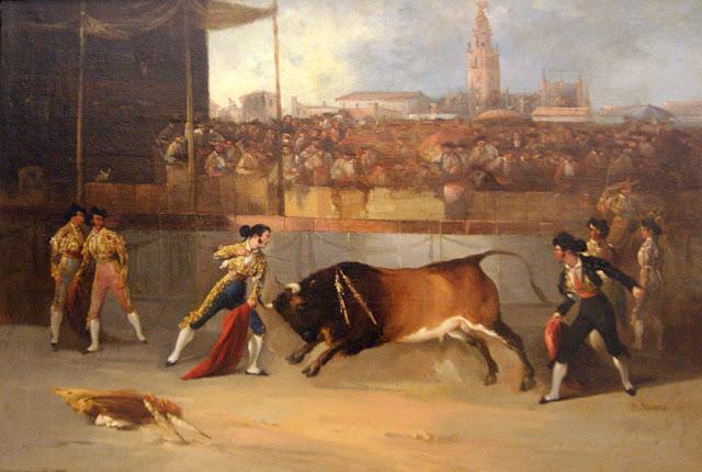 Manuel Rodríguez de Guzmán. Suerte de recibir. 1850. Colección Real Maestranza de Caballería. Sevilla.