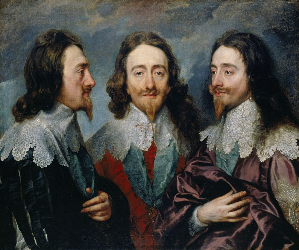 Sir Anthony Van Dyck. Triple retrato de Carlos I. 1635. Colección Real Inglesa.
