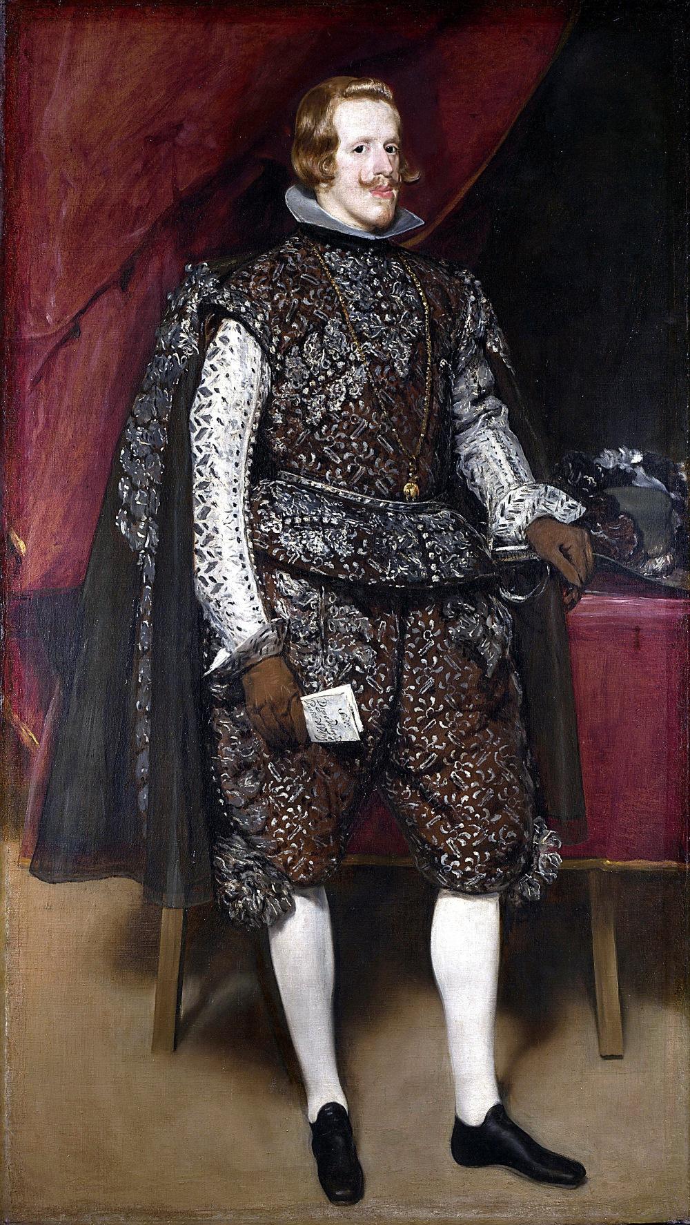 Diego Velázquez. Felipe IV de castaño y plata. Hacia 1631-1632. National Gallery. Londres. Este cuadro fue robado del Monasterio de San Lorenzo de El Escorial durante la invasión francesa.