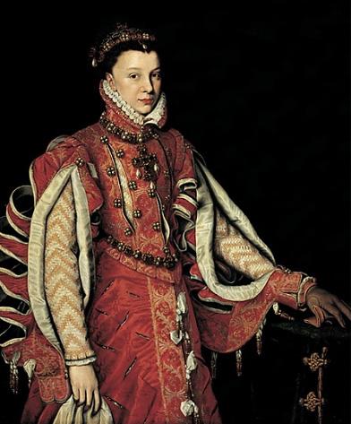 Alonso Sánchez Coello. Retrato de Isabel de Valois. Hacia 1560. Colección Várez-Fisa. Madrid. Sánchez Coello, discípulo de Antonio Moro, copió el retrato de su maestro unos meses después.