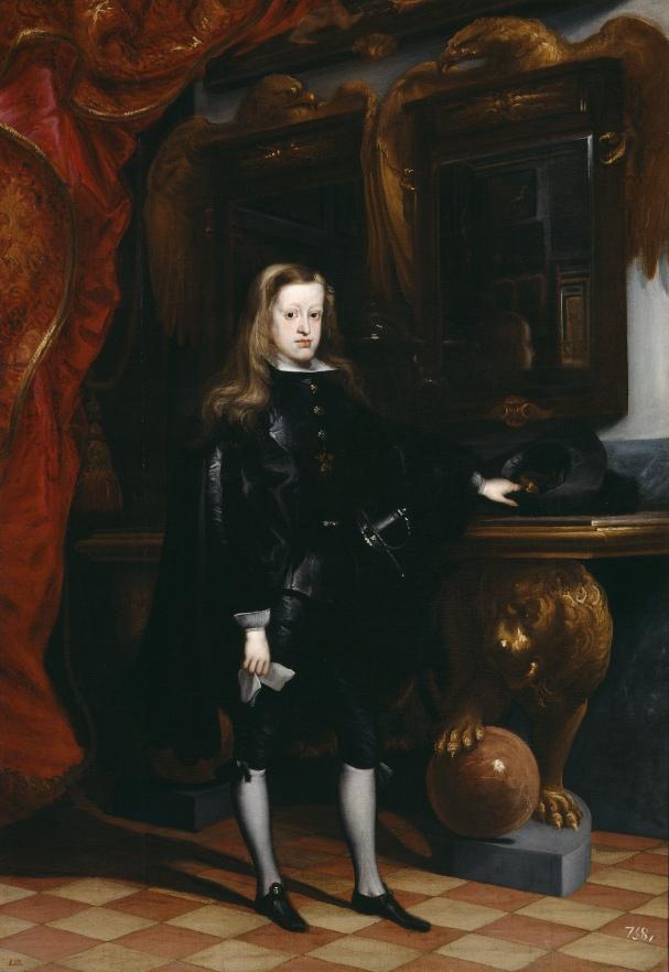 Juan Carreño de Miranda. Carlos II. Hacia 1675. Museo del Prado. Madrid.