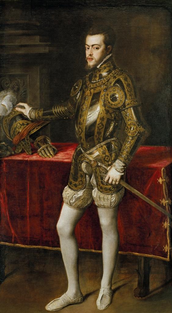 Tiziano Vecellio. Felipe II. 1551. Museo del Prado. Madrid.