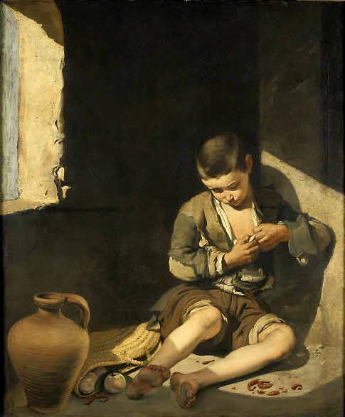 Bartolomé Esteban Murillo. Joven mendigo. Hacia 1650. Museo del Louvre. París.