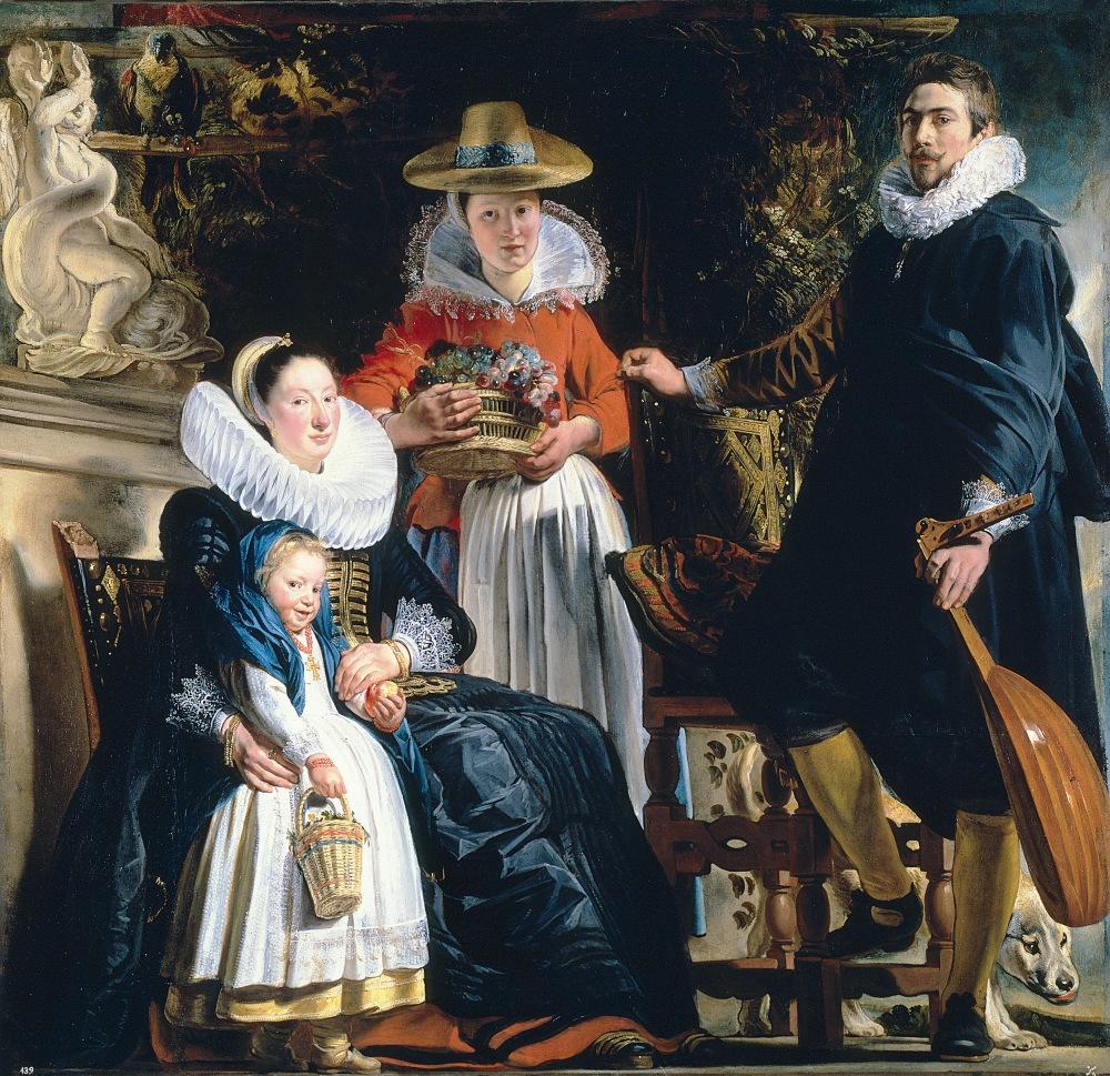 Jacob Jordaens. La familia del pintor. Hacia 1621-1622. Museo del Prado.
