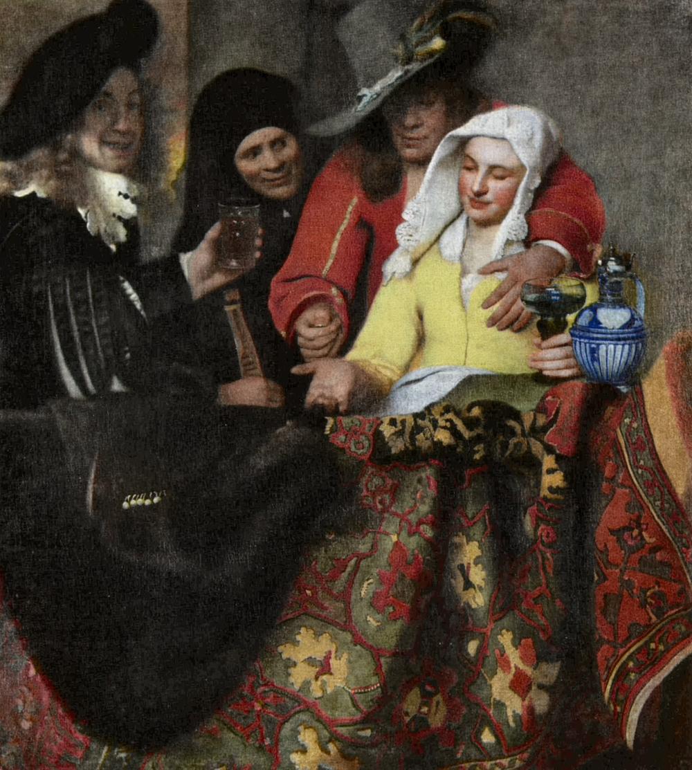 Jan Vermeer de Delft. La alcahueta. 1656. Gemäldegalerie Alte Meister. Dresde. Alemania.