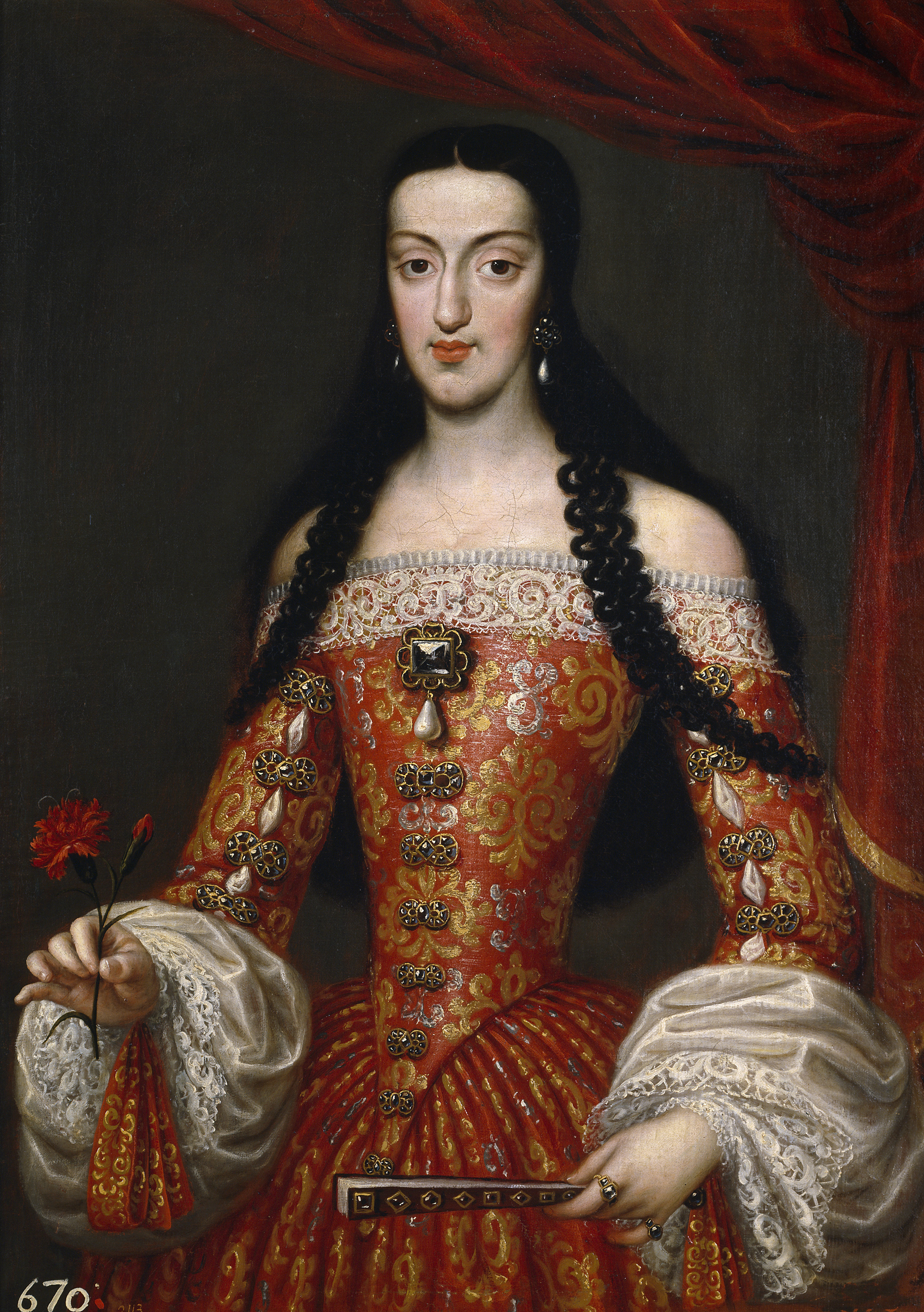 José García Hidalgo. María Luisa de Orleans, reina de España. Hacia 1679. Museo del Prado.