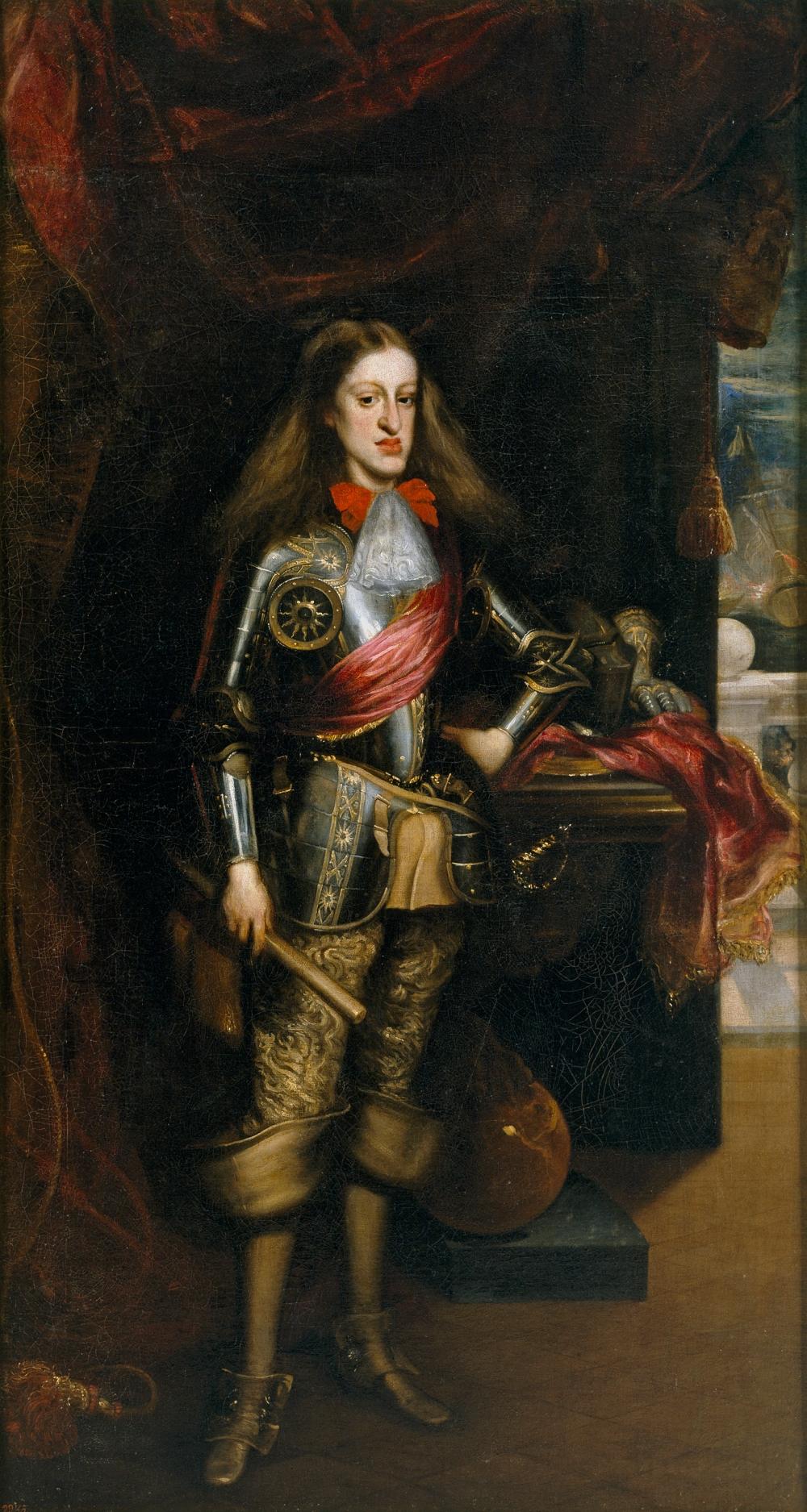 Juan Carreño de Miranda. Carlos II con armadura. 1681. Museo del Prado. Madrid.