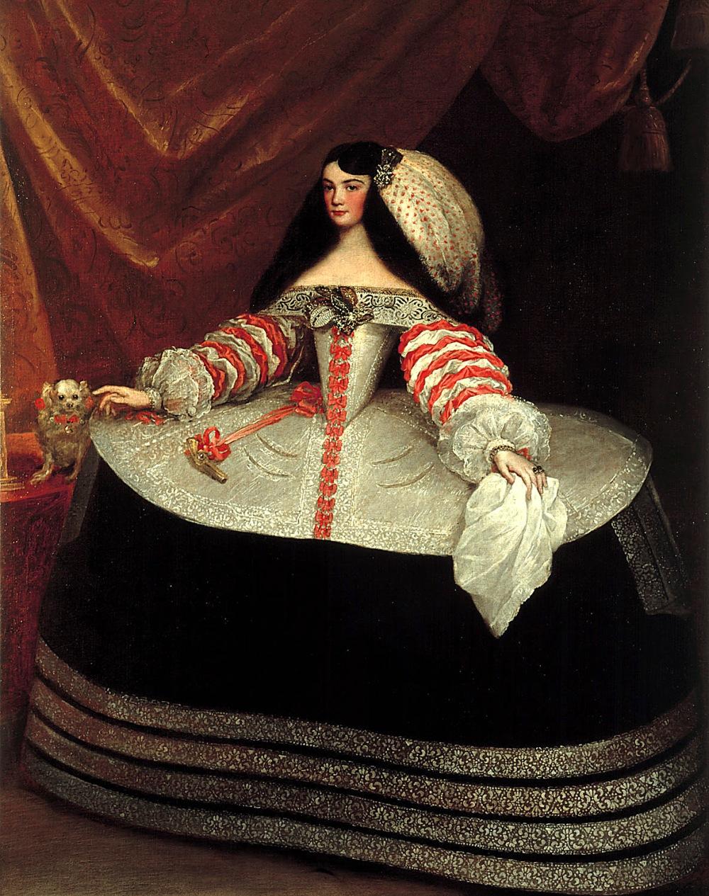 Juan Carreño de Miranda. Doña Inés de Zúñiga, Condesa de Monterrey. Hacia 1660-1670. Museo Lázaro Galdiano. Madrid.