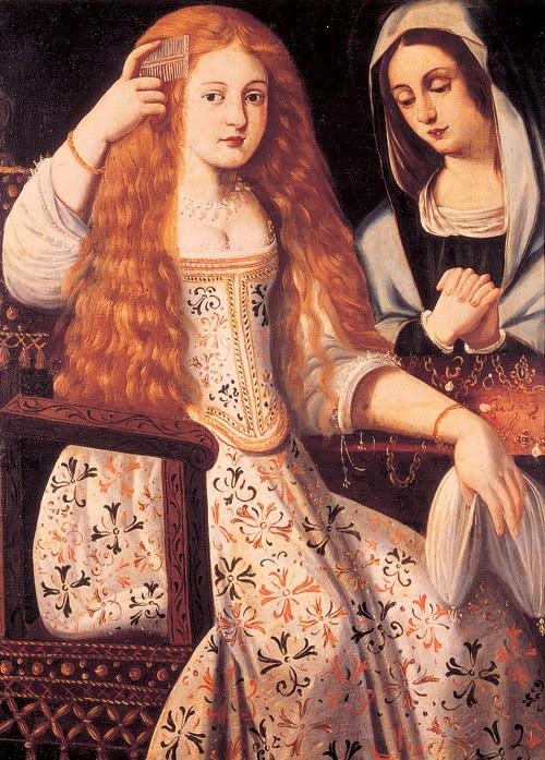 """Anómimo. Supuesto retrato de María Inés Calderón. """"La Calderona"""". Monasterio de las Descalzas Reales. Madrid."""