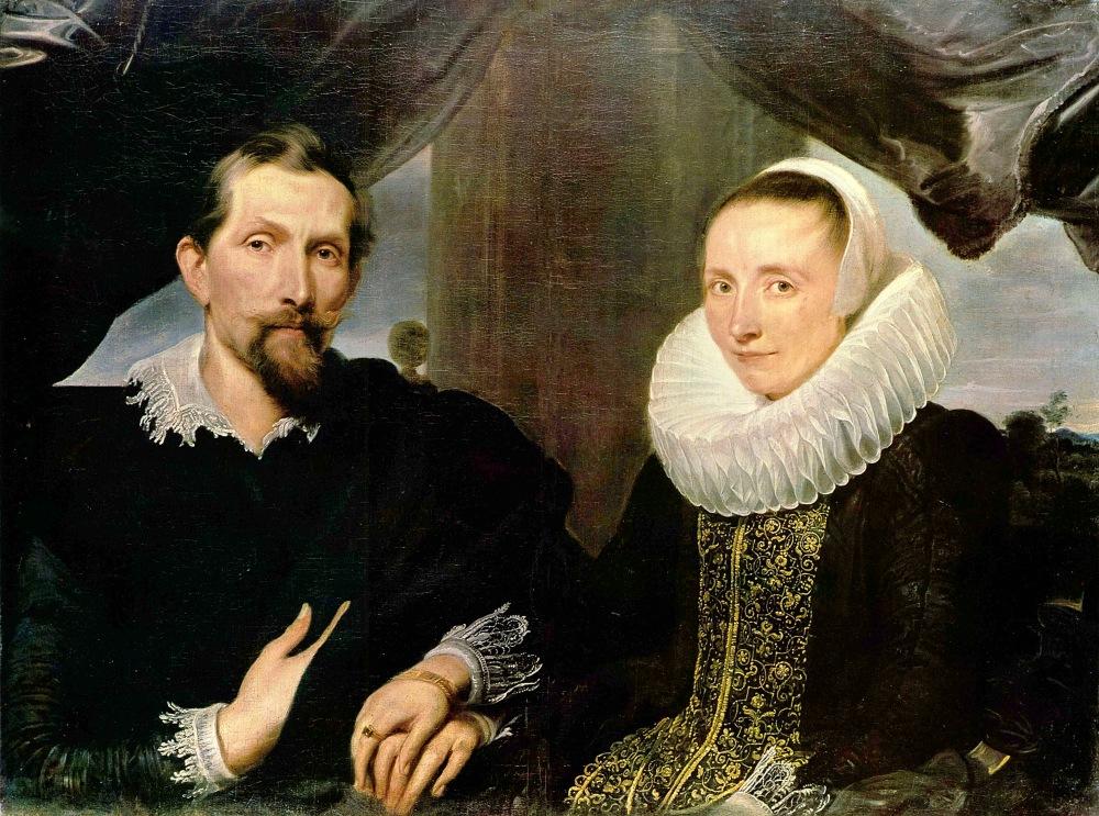 Sir Antony van Dyck. Retrato del pintor Snyders y su esposa. Hacia 1634. Museo Hesen. Kasel.