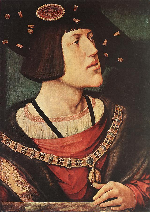 Barend van Orley. Retrato de  Carlos V.