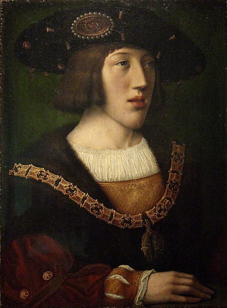 Barend van Orley. Retrato de Carlos V santo emperador romano. Después de 1515. Museo municipal de Bourg en Bresse.
