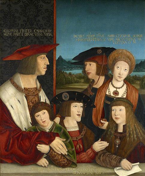 Berhard Strigel. El emperador Maximiliano y su familia. 1515. Kunsthistorisches Museum. Viena.