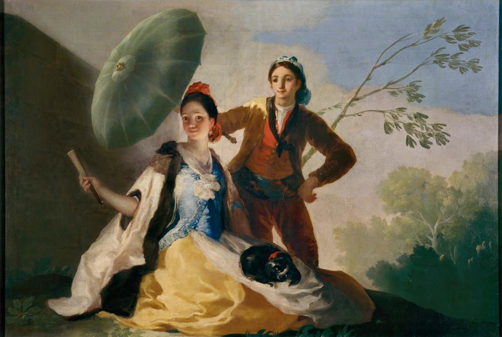 Francisco de Goya. El quitasol. 1777. Museo del Prado. Madrid.