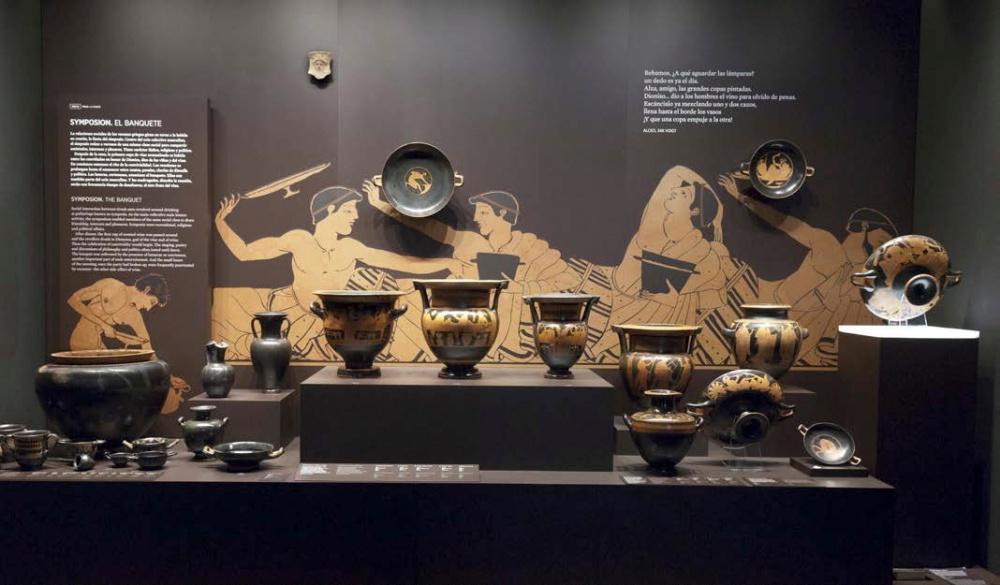 Sala dedicada al arte de la antigua Grecia.