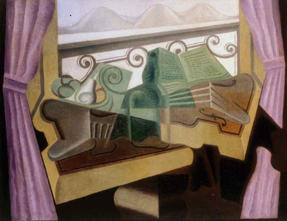 Juan Gris. La fenêtre aux collines. 1923.
