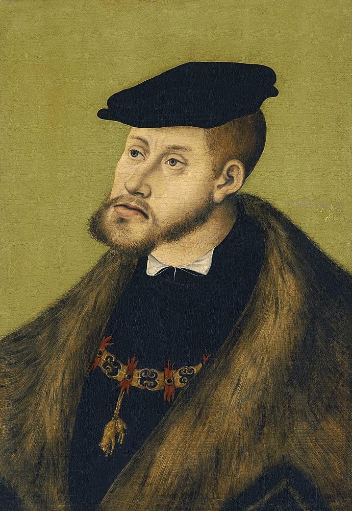 Lucas Cranach, el Viejo. Carlos V. 1533. Museo Thyssen-Bornemisza. Madrid.