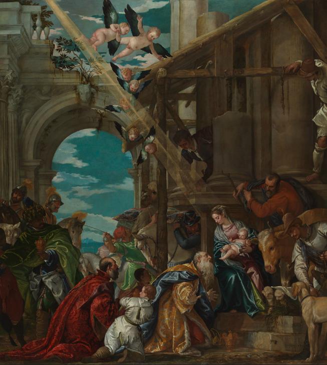 Paolo Veronés. La adoración de los Reyes. 1573. National Gallery. Londres.