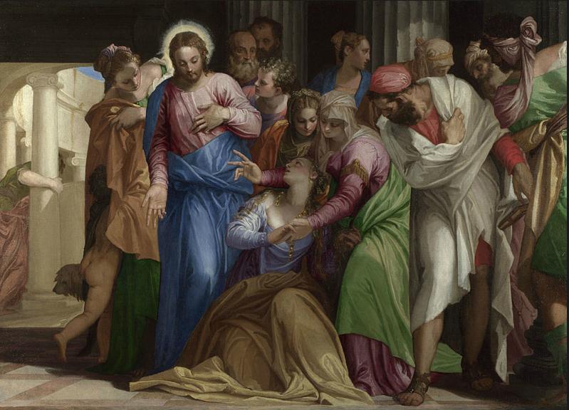 Paolo Veronés. La conversión de María Magdalena. Cerca de 1548. National Gallery. Londres.