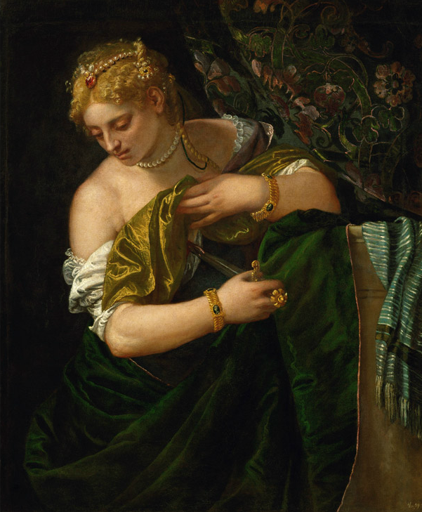 Paolo Veronés. Lucrecia. 1580-5. Kunsthistorisches Museum. Gemäldegalerie. Viena.