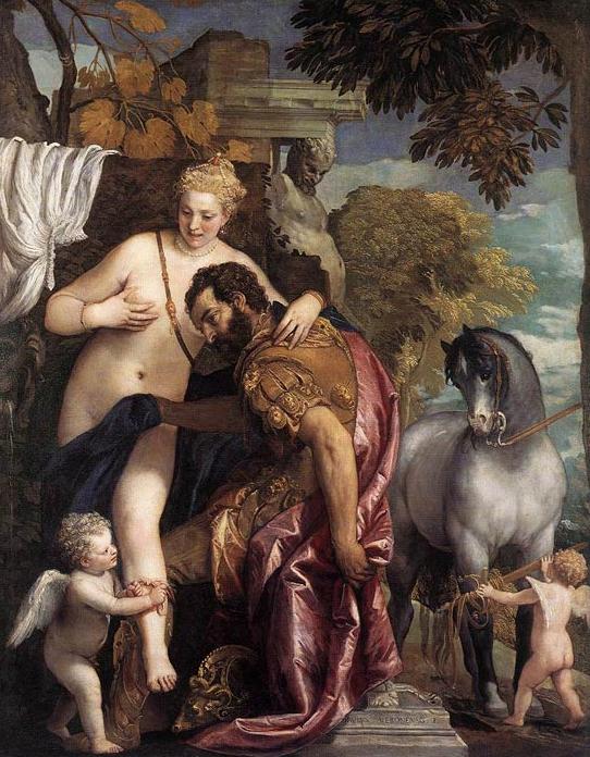Paolo Veronés. Marte y Venus unidos por el amor. 1570-75. Metropolitan Museum. Nueva York.
