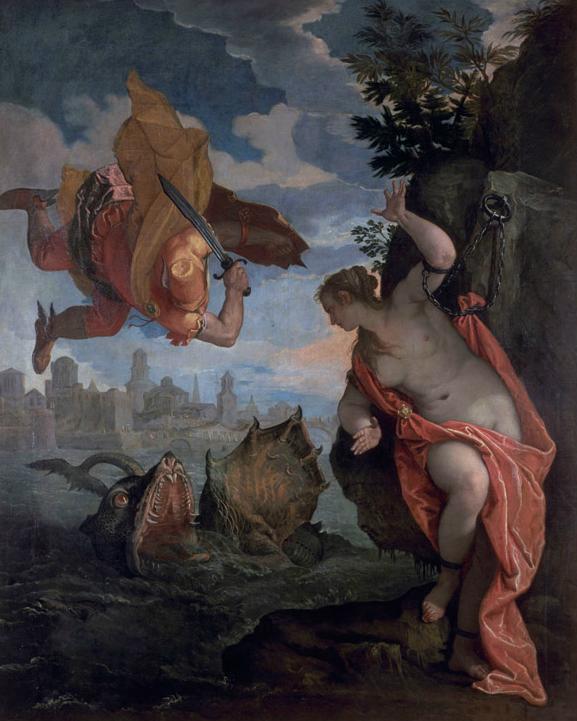 Paolo Veronés. Perseo y Andrómeda. 1575-80. Museo de Bellas Artes de Rennes.