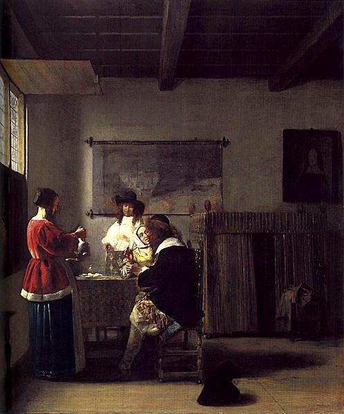 Pieter de Hooch. La visita. Hacia 1657. Metropolitan Museum. Nueva York.