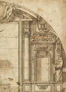 Alonso Cano. Diseño para altar con la figura de Diego de Alcalá. 1630-1635.