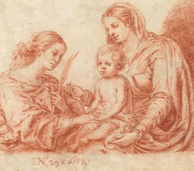 Bartolomé Esteban Murillo. Desposorios místicos de Santa Catalina.1655.