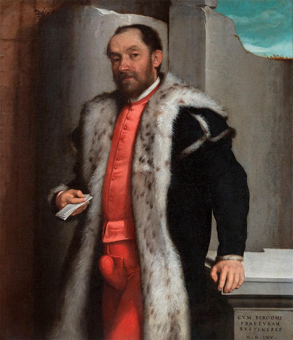 Giovanni Battista Moroni. Retrato de Antonio Navagero. Pinacoteca de Brera. Milán