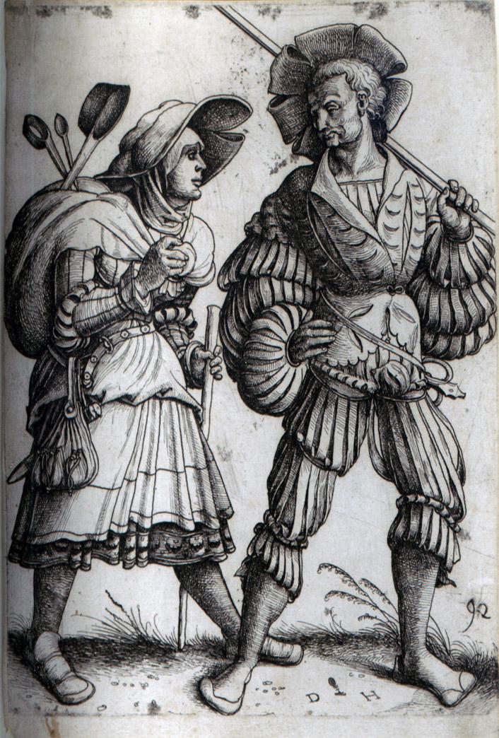 Daniel Hopffer. El lansquenete y su mujer. Hacia 1530. Colección particular.