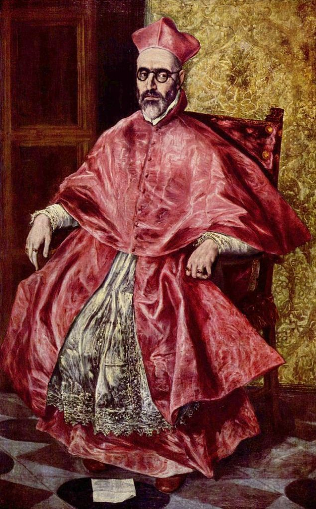 Doménikos Theotokópoulos, el Greco. Cardenal Fernando Niño de Guevara, 1597-1600. Metropolitan Museum of Art. Nueva York.