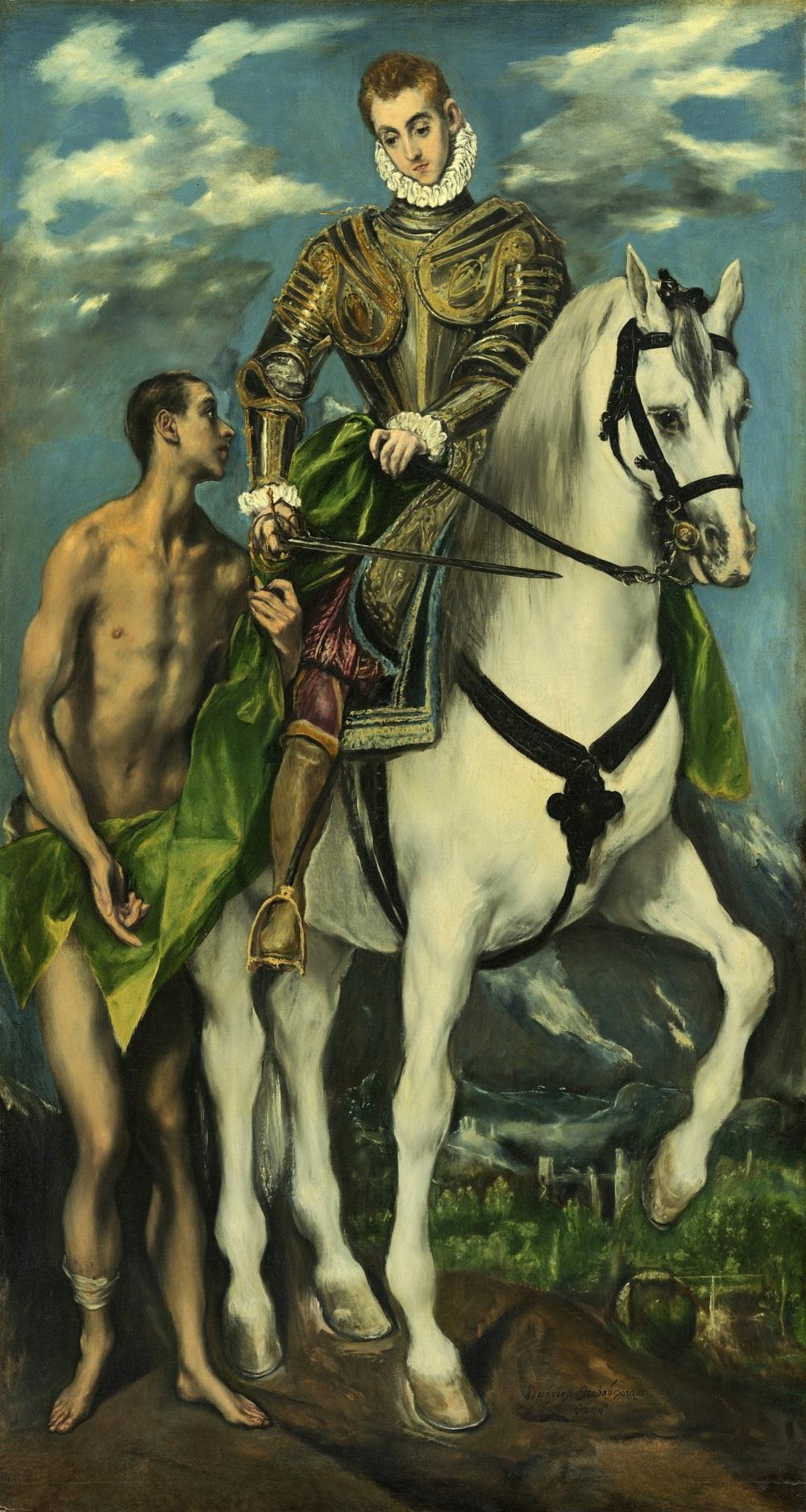 Doménikos Theotokópulos, el Greco. San Martin y el mendigo. 1597-1600. National Gallery. Washington.