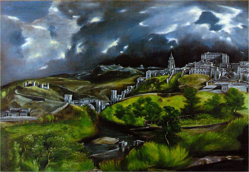 Doménikos Theotokópulos, el Greco. Vista de Toledo. 1604 1614.  Metropolitan Museum of Art. Nueva York.