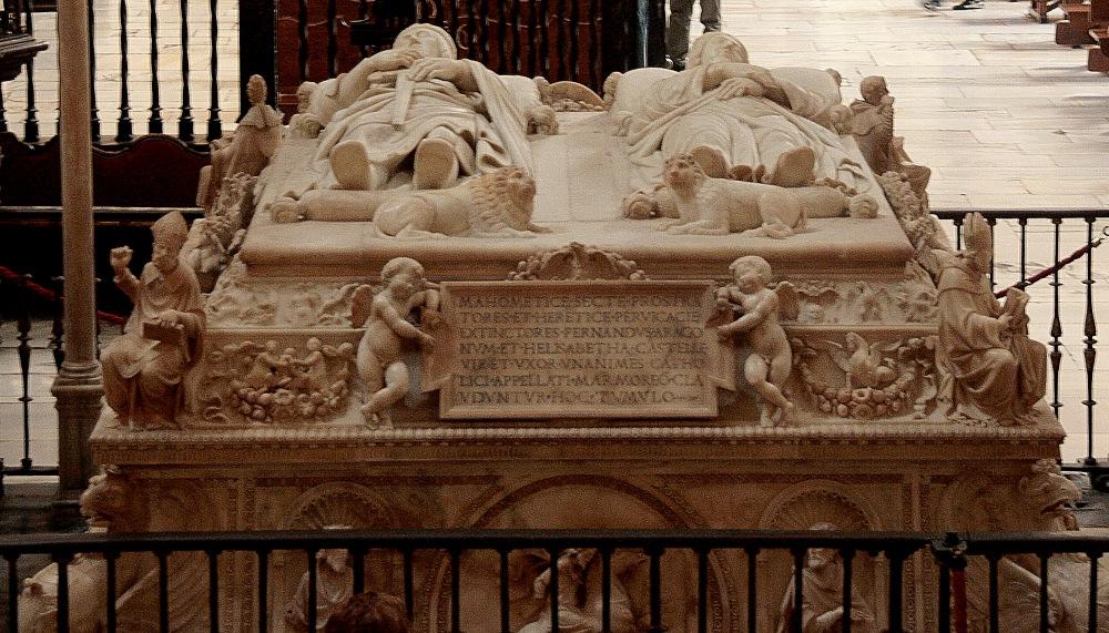 Domenico Fancelli. Cenotafio de los Reyes Católicos. 1517. Detalle. Capilla Real de Granada.